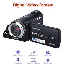 """ORDRO HDV V12 3.0 """"LCD 16X Zoom cyfrowy 1080P FHD aparat cyfrowy podczerwieni DVR wideorejestrator NightVision czujnik CMOS czytnik kart"""