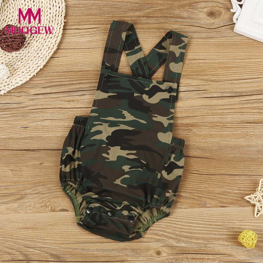 Childlike innocence Store Newborn Infant Baby Camouflage Sleeveless Romper Jumpsuit
