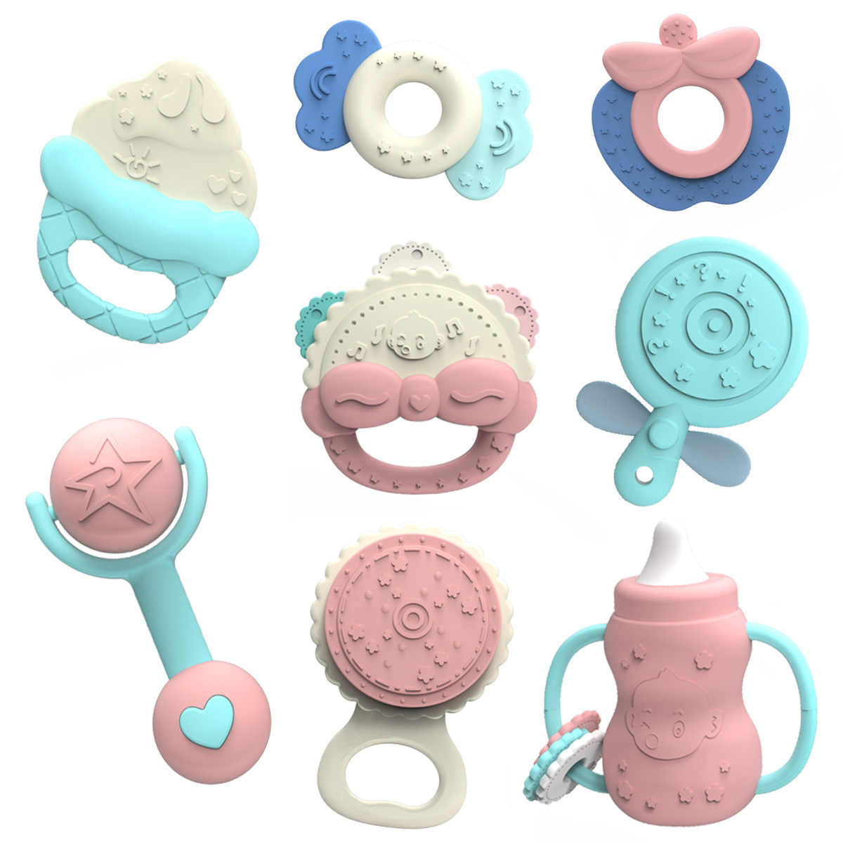 Baby Teether Rattle Toys on Mobile Cot for Child 0-12 13-24 Months Kids Educational Bed Bell Newborn Pacifier Stroller Weep Toy