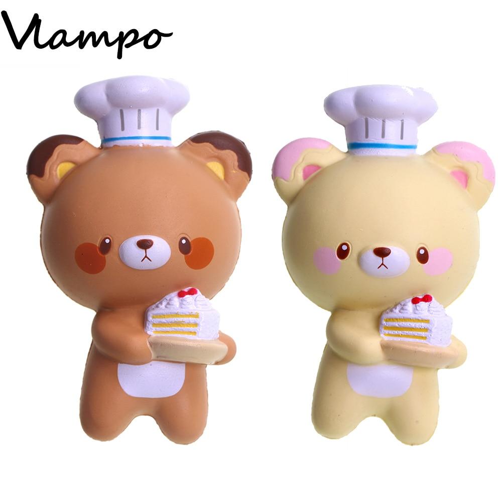 10pcs/lot Cute Slow Rising Squishy Toys Kawaii Cheif Bears Yumeno Stress Release Toys for Children Kids 15cm Squishies Wholesale