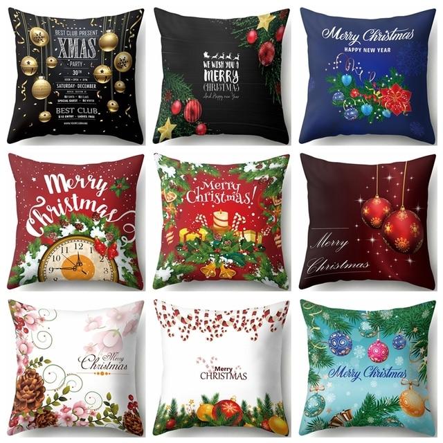 Buon Natale Alberi Decorativi Coperte e Plaid Coperture per Cuscini di Forma Qua