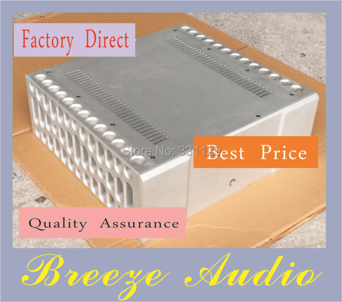Breeze Audio-imitate BOLDER style elaborate processing CNC power amplifier aluminum chassis (aluminum enclosure) breeze audio diy aluminum chassis power