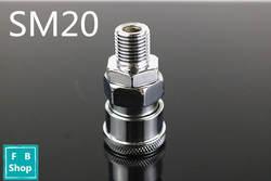 SM20 1/4 ''pt Пневматический воздушный компрессор шланг Быстрый Соединитель разъем 25,2 мм 12,9 мм
