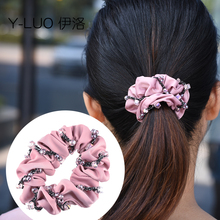 Women hairband hair rope vintage tie ponytail holder fashion cute accessories for women
