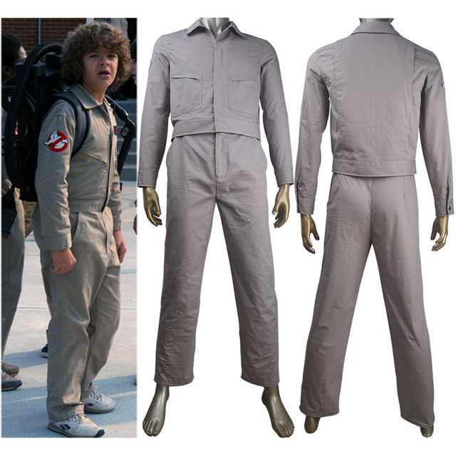 kids boys stranger things season 2 ghostbusters outfit cosplay mike will lucas dustin costume jumpsuit halloween