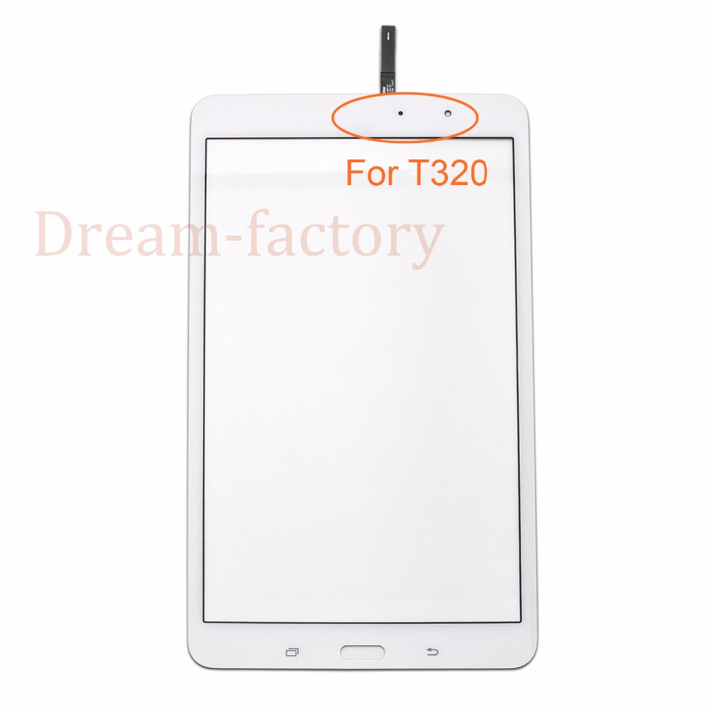 20PCS Touch Screen Digitizer Glass Lens with Sponge for Samsung Tab Pro 8.4 T320 T321 free DHL