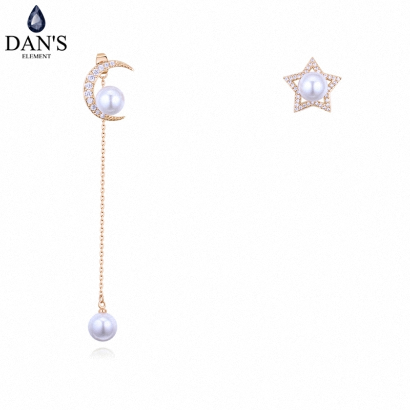 DANS 3 Colors Real Austrian crystals Stud earrings for women Earrings s New Sale Hot Round 128666