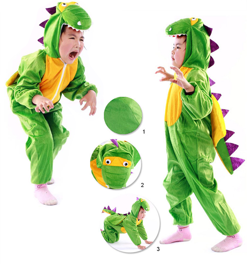 Hot Sale Halloween Children Dinosaur Costume Boy Dragon Costume Party Kid's Fancy Animal Cloting Cute Cloths Free Shipping