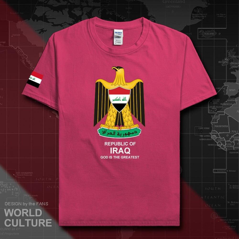 Republic Of Iraq Iraqi Men T Shirt Fashion 2018 Jerseys Nation Team 100% Cotton T-shirts Sporting Clothing Tees Country IRQ 20