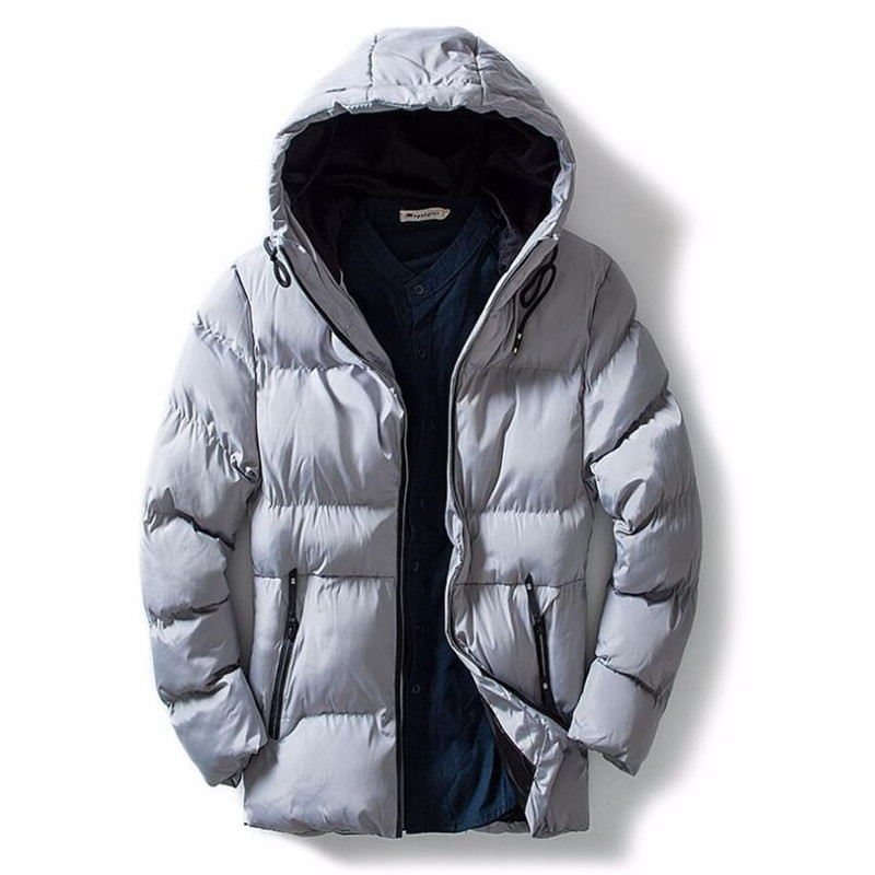 New Winter Thick Warm Hooded Jackets Coats Men Solid Cotton Parka Fashion Overcoat Outerwear Jacket Large size new pure color hooded cotton padded clothing jackets business long thick winter coat men solid parka fashion overcoat outerwear