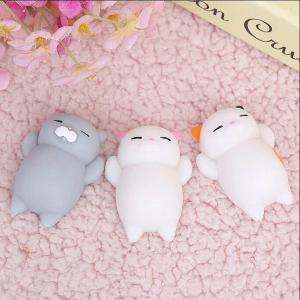 JINHF Mini Squishy Toy Cute Cat Antistress Ball Squeeze Mochi Rising Toys Abreact Soft Sticky Squishi Stress Relief Toys Gift