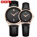 DOM пара любовников часы люксовый бренд водонепроницаемый стиль кварцевые часы золотые часы MS-375 + GS-1075
