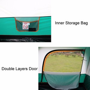 Image 4 - 8 10 12 Person Large Camping Tent Waterproof Family Tents for Outdoor Double Layers Event Luxury Camping Tents