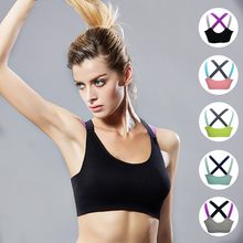 Sports bra top deportivos underwear without steel ring adjustment professional shockproof sports Sexual harassment