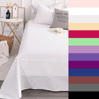 600TC Pure Cotton Luxury Solid Color Bed Sheet Custom Bedsheet Flat Sheet Linens 1PCS Bedding Sheets Single King Queen Size