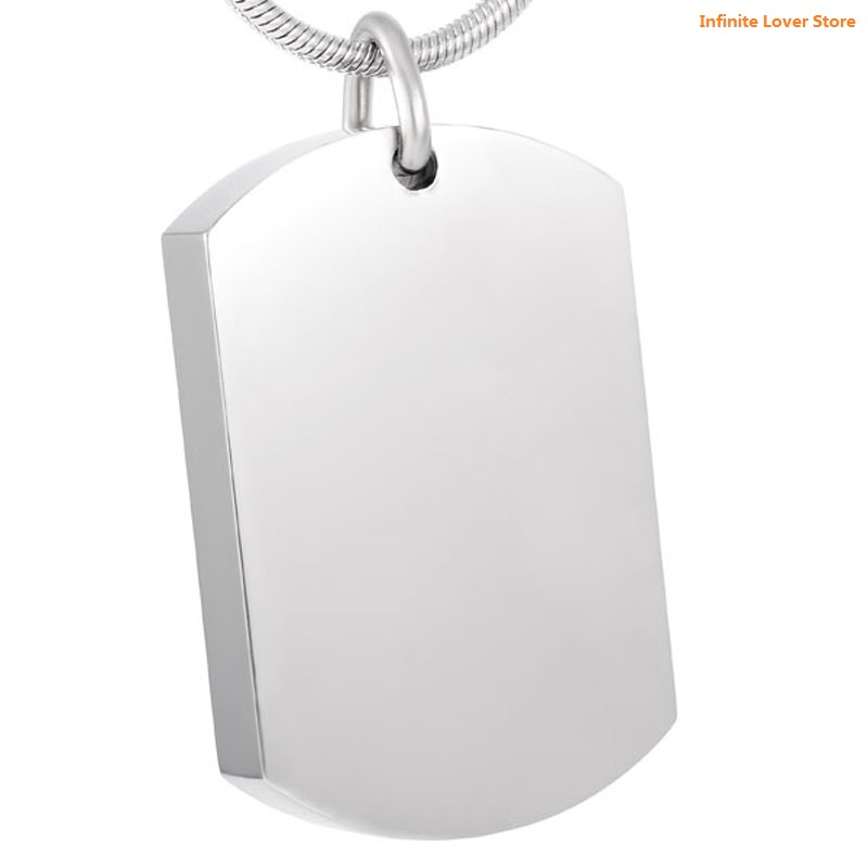KLH8416 9 Stainless Steel Blank Dog Tag Style Cremation Ashes Urn Pendant Hold Funeral Ashes Cheap