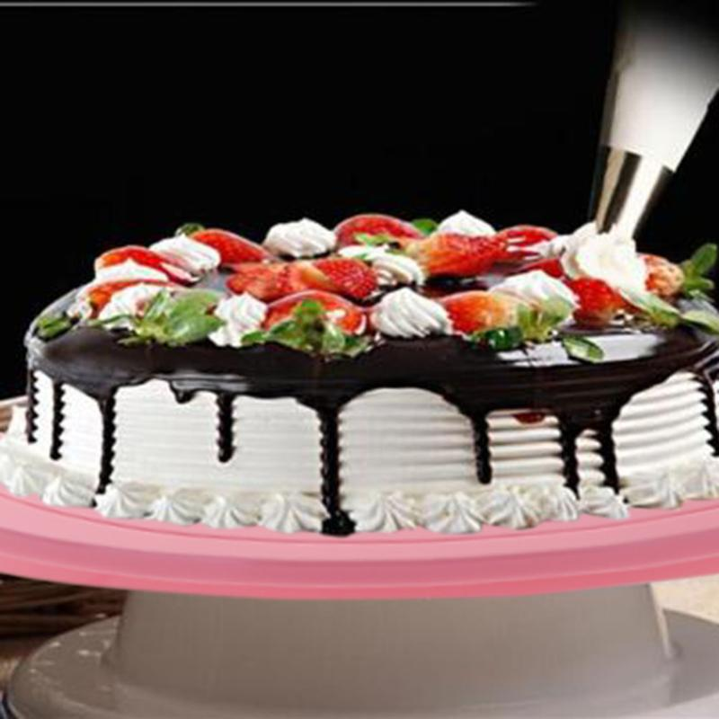 14cm Rotating Cake Turntable Plastic Anti-Slip Cake Stand Decorating Turntable Platform Cupcake Revolving Baking ...