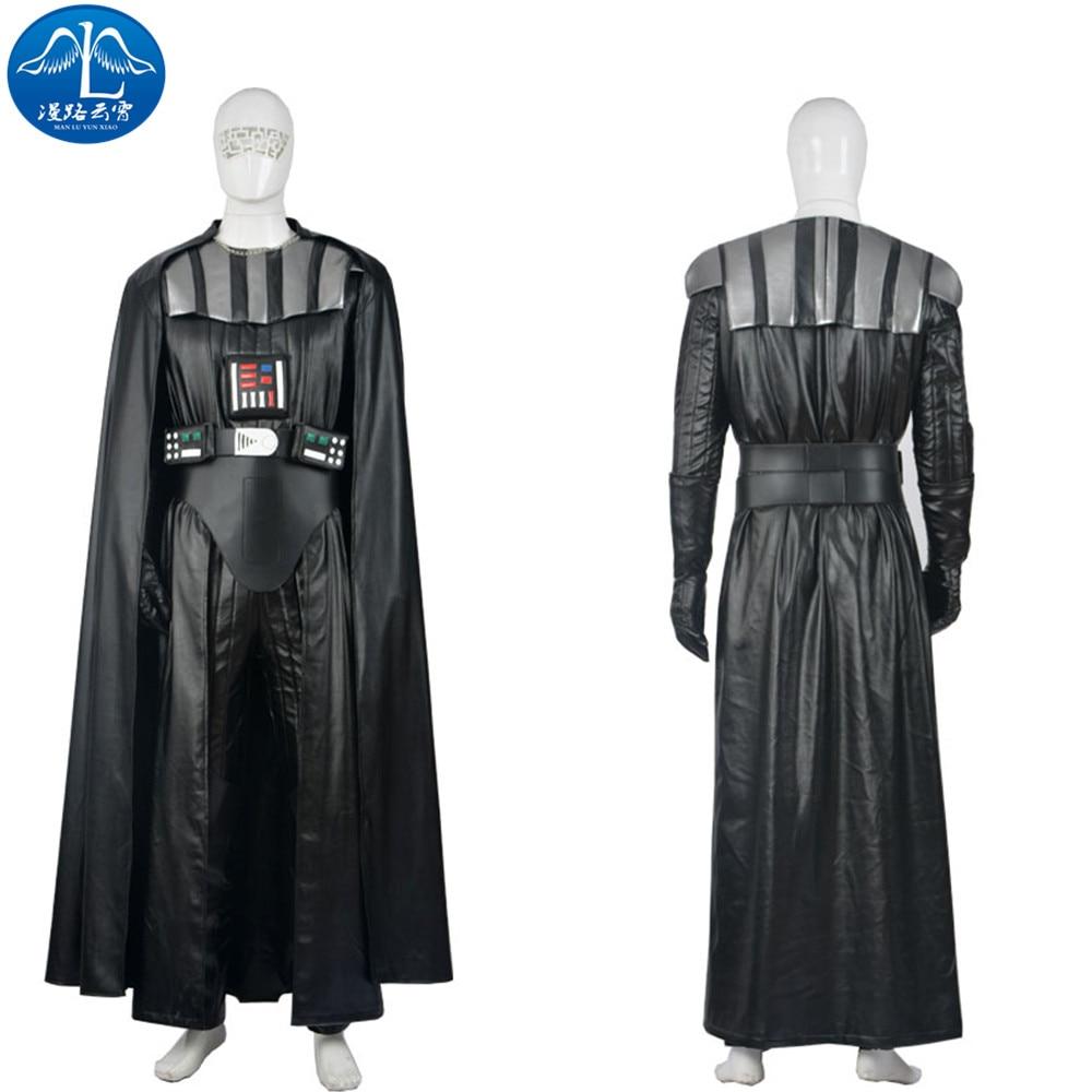 Új Csillagok háborúja Darth Vader Cosplay jelmez Felnőtt Jedi öltöny Teljes készlet Testreszabott Darth Vader Halloween jelmez férfiaknak