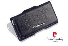 Pierre Cardin Funda Para El Samsung Galaxy S7/S7 EDGE/S6/S6 EDGE Cuero Genuino Cinturón Universal negro Libre Del Envío