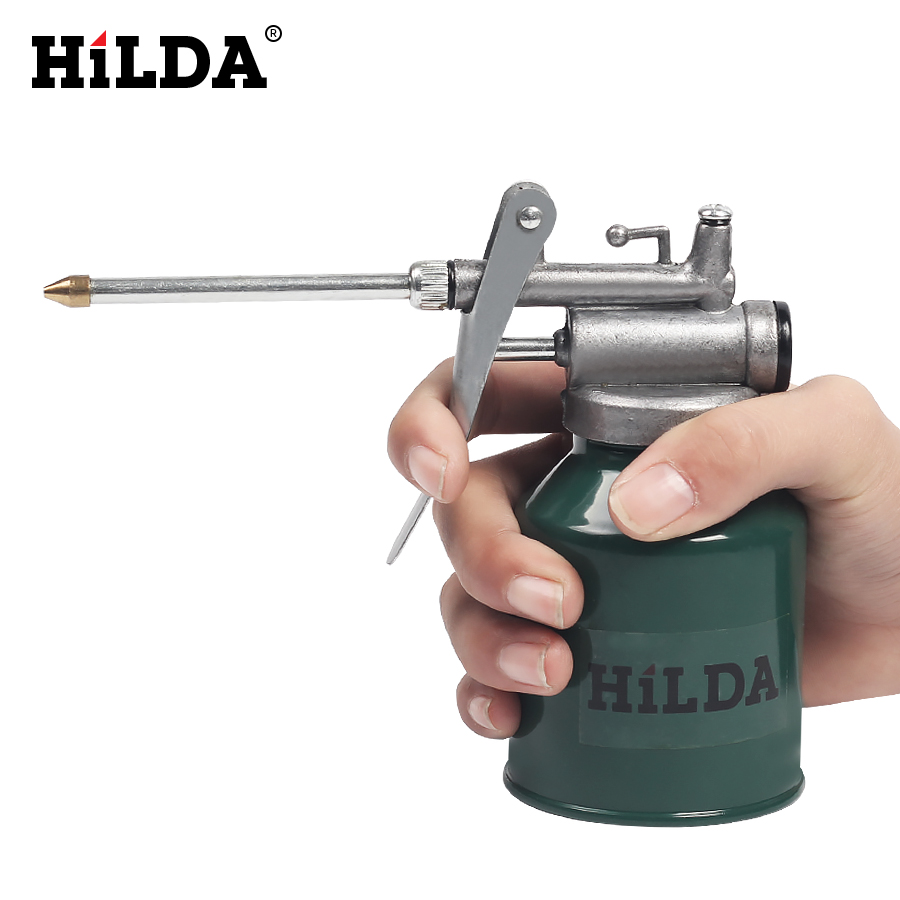 HILDA HVLP Paint Spray Gun Oil Pump Cans Oiler Hose Grease Machine For Lubricating Airbrush Hand Tools Lubricator Repair 800w electric painter spray gun 900ml latex paint sprayer 1 8m spray hose hvlp paint sprayers house painting machine power tools