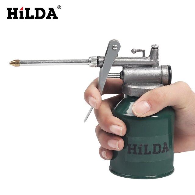 HILDA HVLP Paint Spray Gun Oil Pump Cans Oiler Hose Grease Machine For Lubricating Airbrush Hand Tools Lubricator Repair