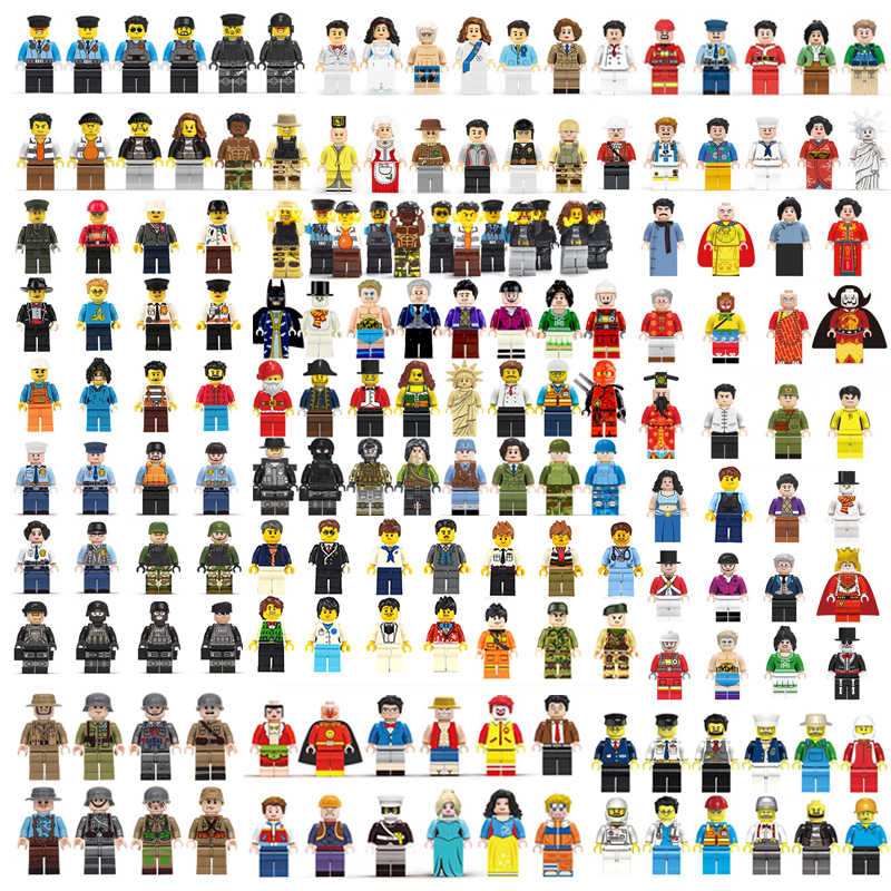 100pcs/lot Ninjago Marvel Figures Blocks Educational Construction Building Bricks Toys Set For Children Toys