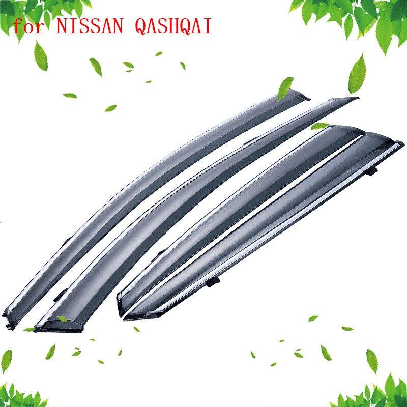 Accessoires fenêtre latérale déflecteurs de pluie garde visière pare-intempéries porte ombre temps pour NISSAN QASHQAI J11 J10 2007-2018 - 3