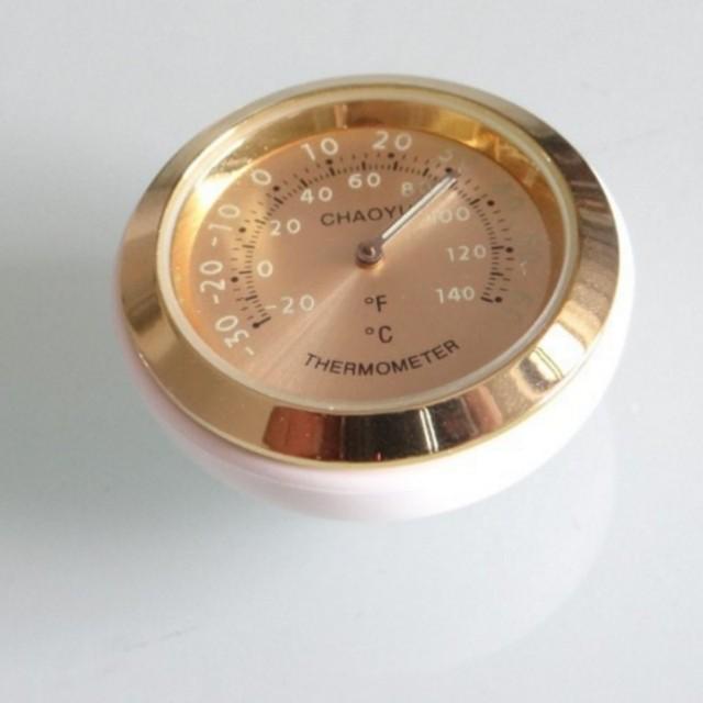 3 pçs/lote motorbycle medidor mini estilo de ouro calibre Noctilucentes relógio + termômetro + Higrômetro com Elástico no punho de bicicleta