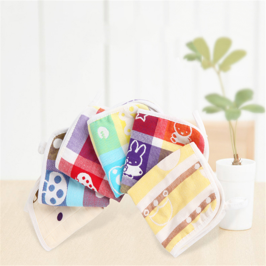0-3 Baby Newborn Towel Toddler Cotton Washcloth Luxury Soft Wipes 5 Pcs Cute Comfortable Square Hand Face Baby Towel Set 70A0060