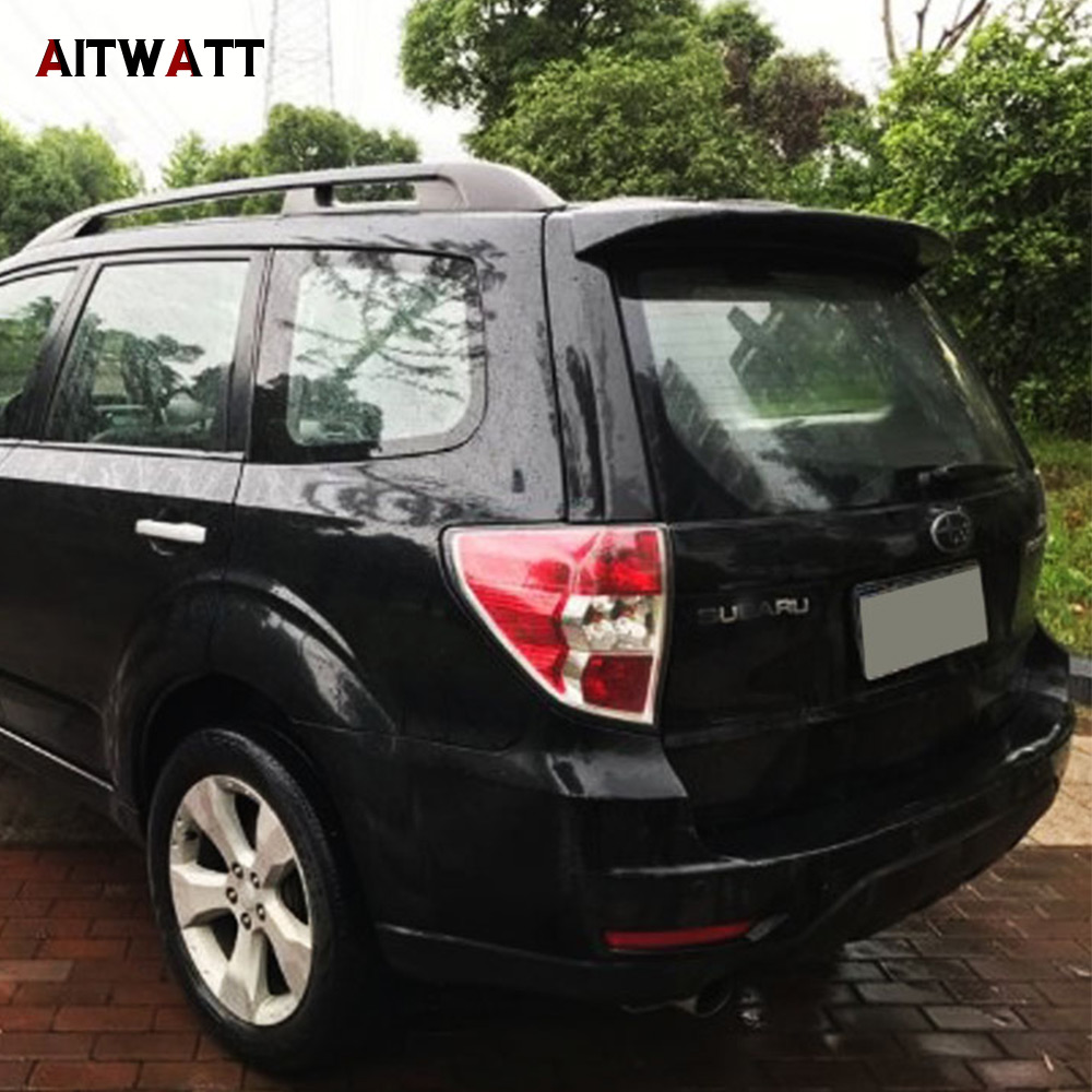 Spoiler For Subaru Forester 2009 2010 2011 2012 ABS Plastic Unpainted Primer Rear Roof Wing Spoiler AITWATT abs spoiler wing for honda city 2009 2010 2011 2012 primer unpainted