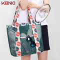 KN Foldable Shopping Bag Travel Handbags Eco-friendly Supermarket Shopping Bag Foldable Grocery Beach Bag Handbags Casual Tote