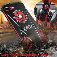 For Apple IPhone 7 Metal Case Original R Just Shockproof Car Holder Magnetic Cover For IPhone