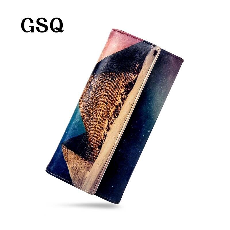 ФОТО GSQ Women Wallet Preppy Style Plaid Women Leather Wallet Luxury Zipper Coin Pocket Hasp Money Pocket Handbag Girl Purse Clutches