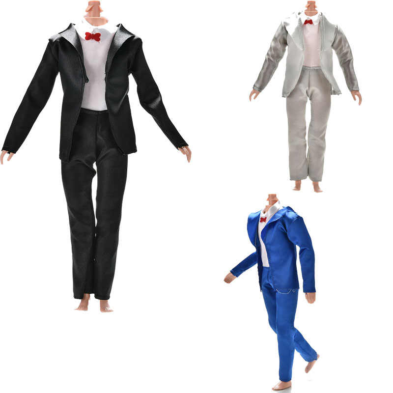 Newest 3 Pcs/set Handmade Doll Clothes Accessories For Doll Ken Bride Suit With White Shirt For Boy Firend
