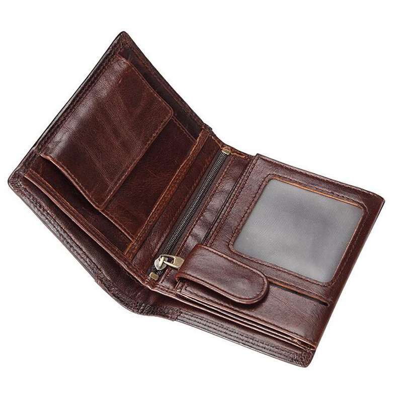2017 NEW Designer Brand Short men wallets gift for men genuine leather with card holder high quality wallets and purse