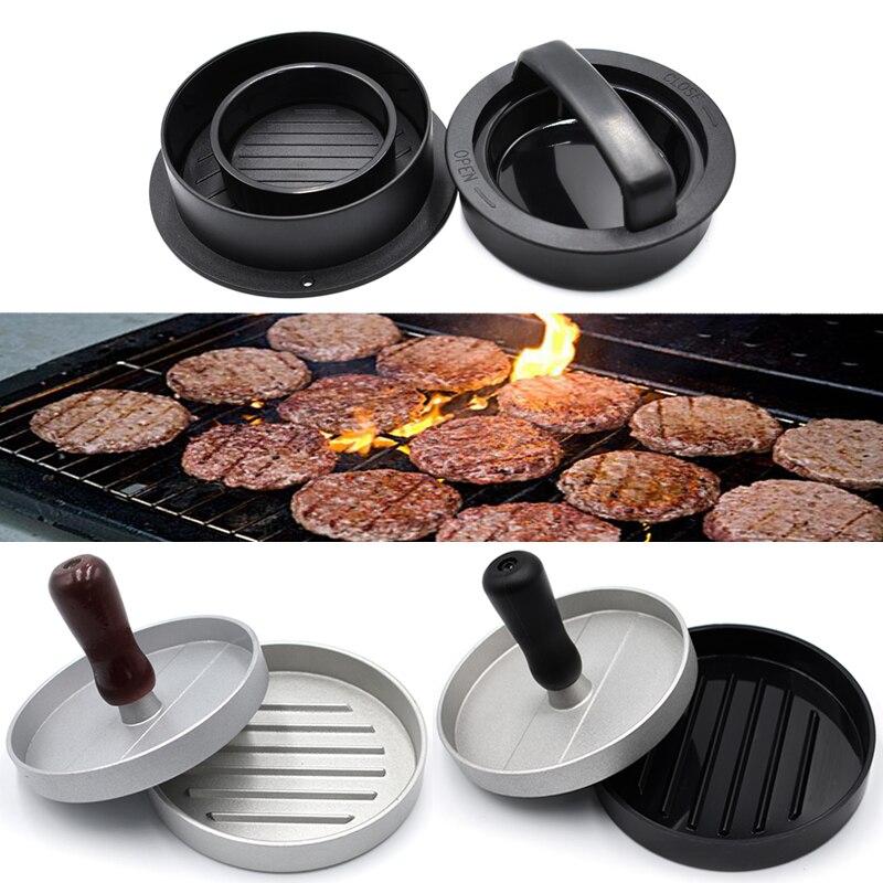 Kitchen Meat Pie Round Shape Hamburger Press ABS and Aluminum Alloy Hamburger Meat Beef Grill Burger Press Patty Maker Mold