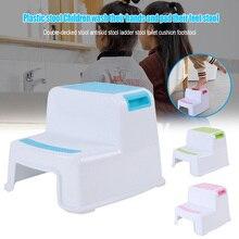 حار 2 خطوة البراز طفل أطفال البراز قاعدة مرحاض للأطفال التدريب زلة مقاومة للحمام المطبخ NDS66