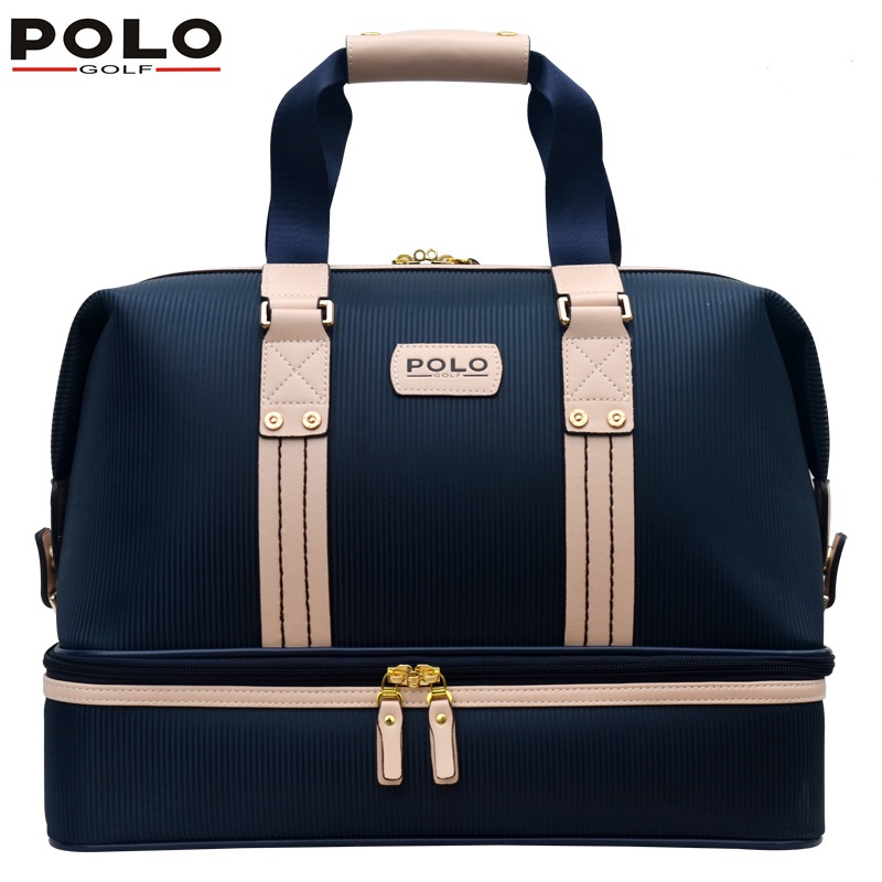 Authentic POLO Golf double clothing shoes bags mens golf apparel travel bag bolsas zapatos double garment High-capacity package 2017 large capacity waterproof nylon golf boston bag travel clothing bag with separate golf shoes bag embroidery logo