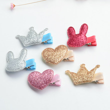 10 PCS Cute Style Baby Girls Children Shiny Crown Princess Hairpins Multistyles Rabbit Hair Clip Headbands Hair Accessories