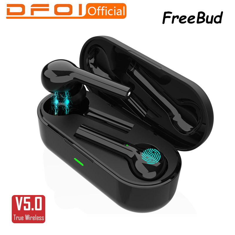DFOI FreeBud Wireless Bluetooth Earphones 5.0 True Wireless Earbuds Headset Stereo Bluetooth Earphone For Iphones Xiaomi Samsung(China)