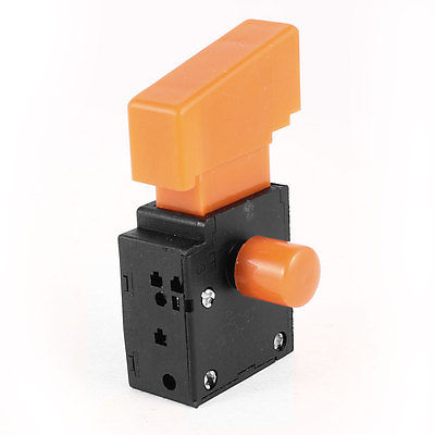 Electric Drill SPST NO Latching Lock Trigger Switch AC 250V/6A <font><b>FA2</b></font>-<font><b>4</b></font>/<font><b>1BEK</b></font> image