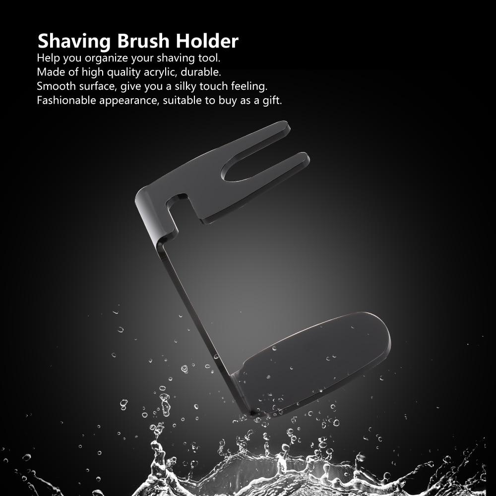 Professional Shaving Brush Holder Black Shaving Stand for Acrylic Brush Stand Men's Shaving Tool