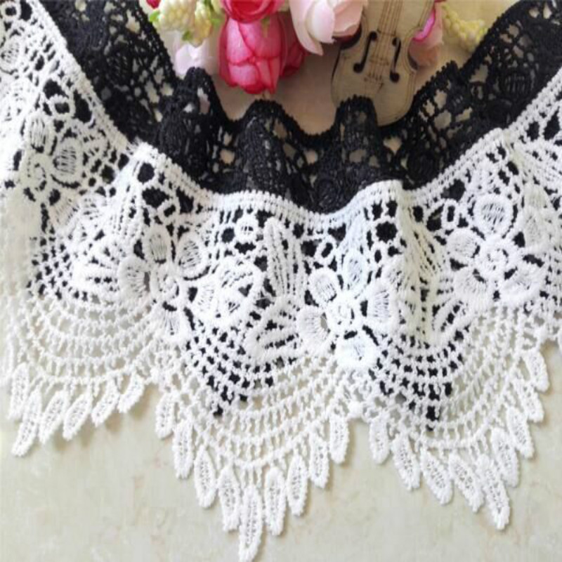 8cm Width Embrodiary Lace Fabric Water Soluble Lace Trim Fabric For Sewing Bridal Wedding Dress Crafts