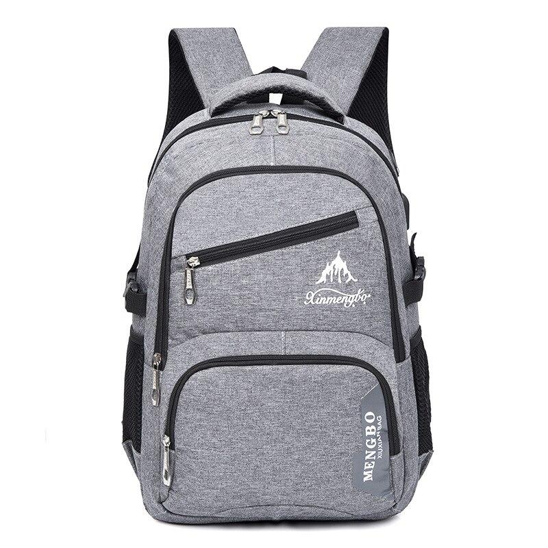 USB Charging Canvas Backpacks Women/Men Leisure Travel Laptop Backpack With Headphone Jack School Bags Mens Business Back Pack