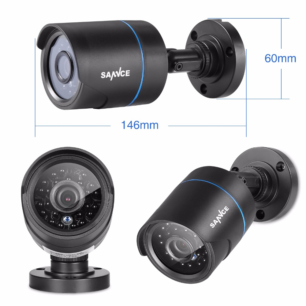 SANNCE 1PCS 720P CCTV Security Camera IR Outdoor Waterproof Bullet CCTV Surveillance Camera 1.0MP home Security Camera seven promise 720p bullet ip camera wifi 1 0mp motion detection outdoor waterproof mini white cctv surveillance security cctv