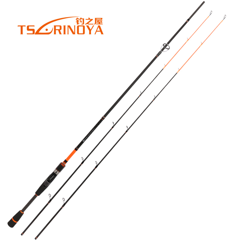 Livraison rapide Tsurinoya marque carbone filature cannes à pêche 2.1 m 2.4 m système rapide appâts coulée canne à pêche Fuji anneaux leurre tige