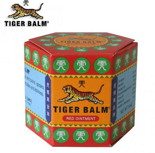 Red Tiger Balm ointment for treating muscle pain and relieve the itching, stuffy nose headache ointment 19.4g X 3 bottle 1 bottle green herb balm thailand healthy anti mosquito bite skin care headache pain relief medcine l3