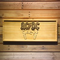 ACDC AC/CD Beer 3D Wooden Bar Sign