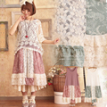 Forest Girl Style 2016 Summer women's Cute Loose Casual Patchwork Lace Sleeveless Lolita Style Elegant Mori Girl Dress C083