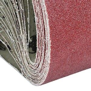 Image 4 - Abrasive Tool 533x75mm Sanding Belts 80 320 Grits Sandpaper Abrasive Bands for Sander Power Rotary Tools Dremel Accessories